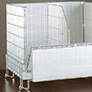 Wire cage roll containers
