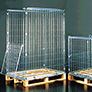 Pallet cage roll containers